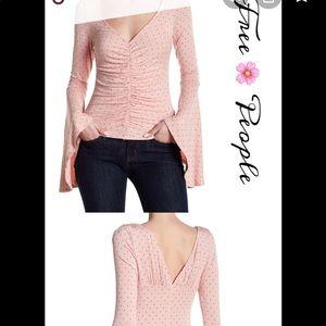 Free People polka dot blouse NWOT